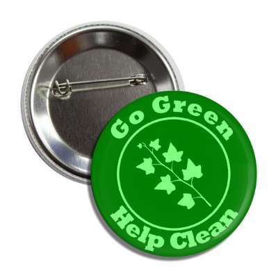 go green help clean leaves button