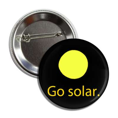 go solar sun space button