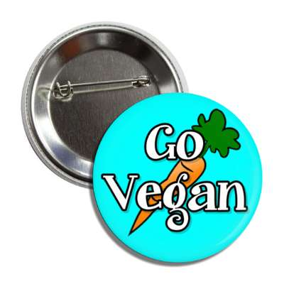 go vegan carrot aqua button
