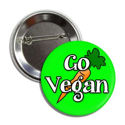 go vegan carrot green button