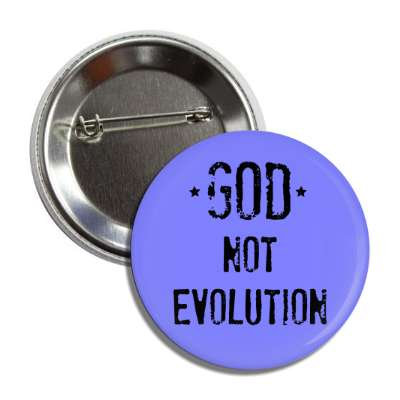 god not evolution blue button