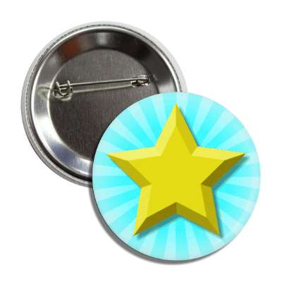 gold star aqua burst rays button