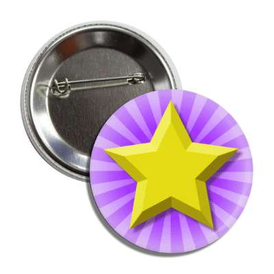 gold star purple burst rays button