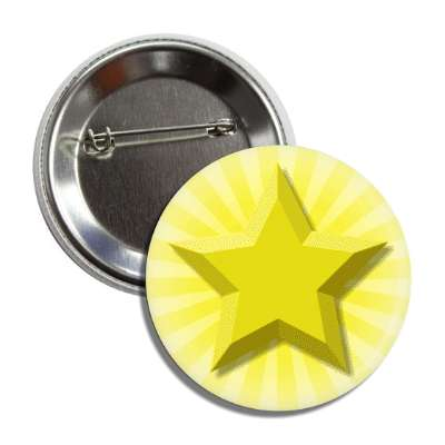 gold star yellow burst rays button