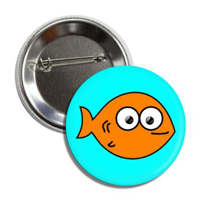 goldfish cute cartoon button