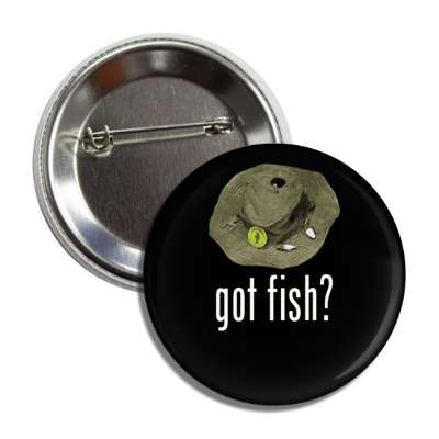 got fish fishing hat button