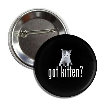 got kitten? button