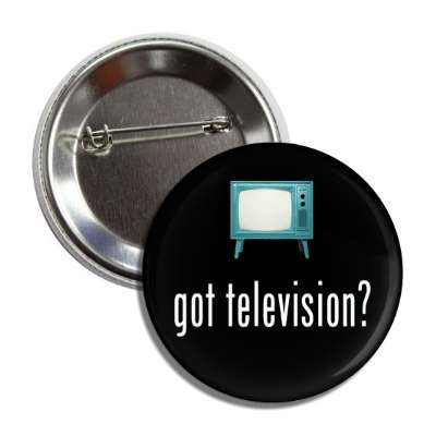 got television retro tv button