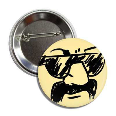 handlebar mustache smiley button