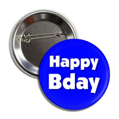 happy bday birthday blue button