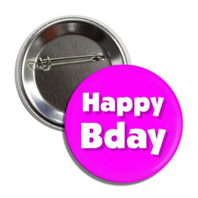 happy bday birthday purple button