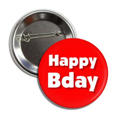 happy bday birthday red button