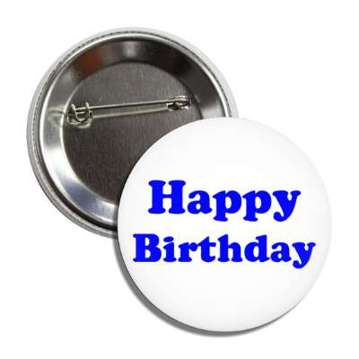 happy birthday blue button