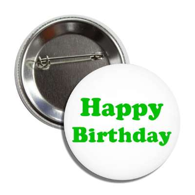 happy birthday green button