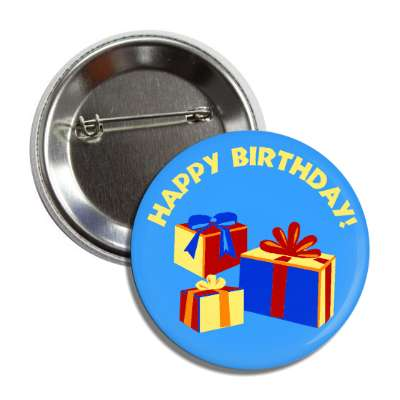 happy birthday presents gifts ribbons button
