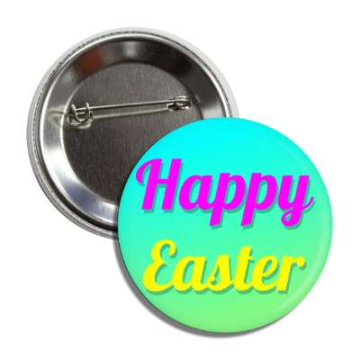 happy easter aqua green cursive button