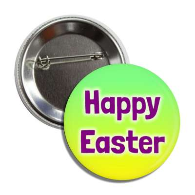 happy easter green yellow button