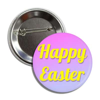 happy easter magenta light blue cursive button
