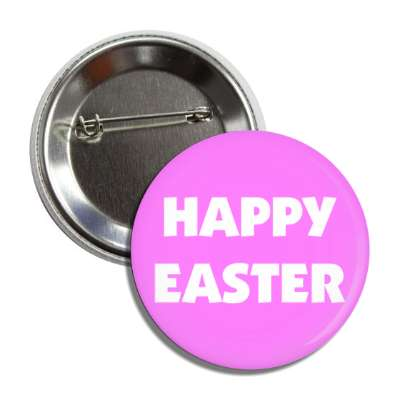 happy easter white magenta button