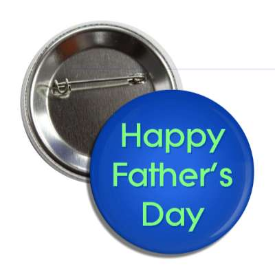 happy fathers day blue button