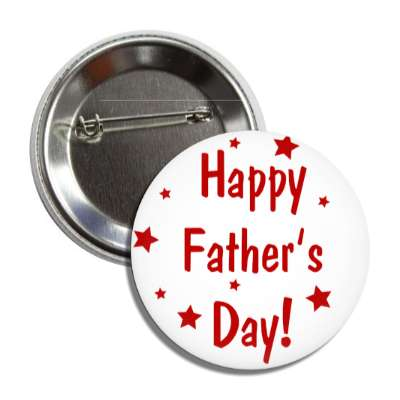 happy fathers day white stars red button