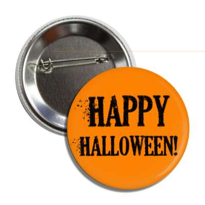 happy halloween ashen orange button