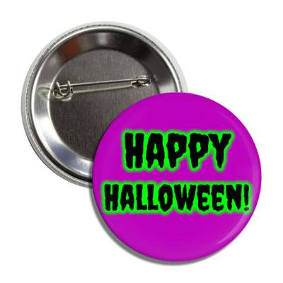 happy halloween purple button