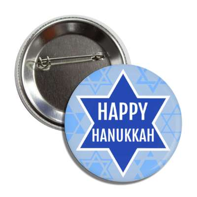 happy hanukkah dark blue star of david button
