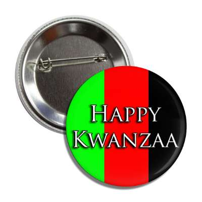 happy kwanzaa african colors button