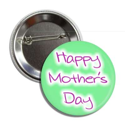 happy mothers day purple handwritten green button