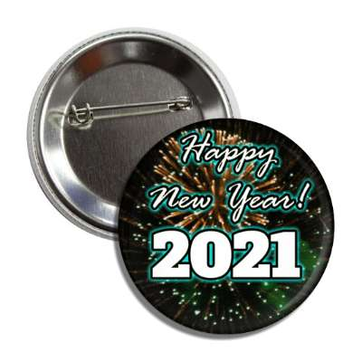 happy new year 2021 fireworks button