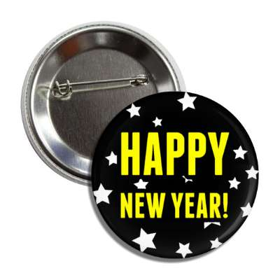 happy new year black stars button