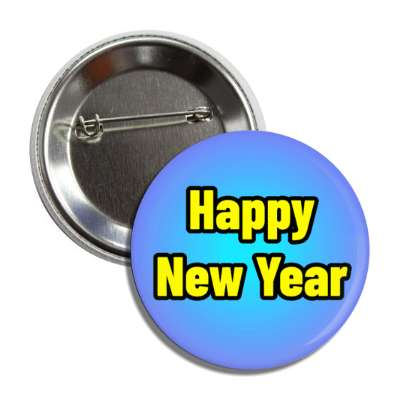 happy new year blue button
