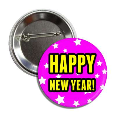 happy new year purple stars button