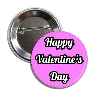 happy valentines day magenta cursive bold button