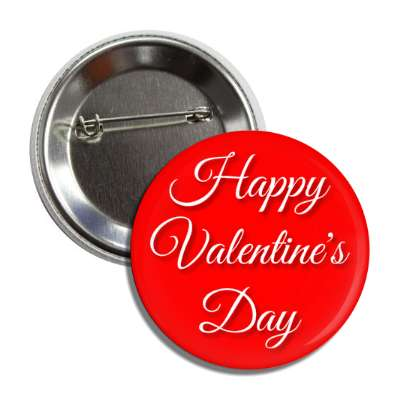 happy valentines day red cursive button