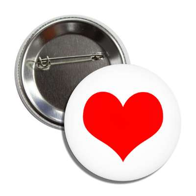 heart red valentines day button