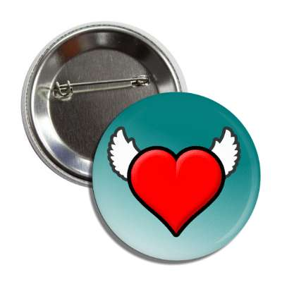 heart with wings teal gradient button
