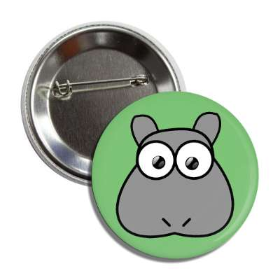 hippo cute cartoon button