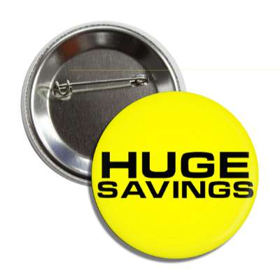 huge savings pricetag button