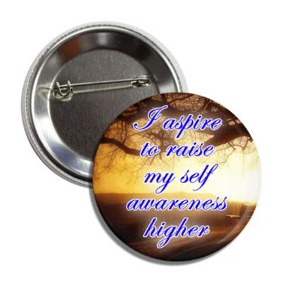 i aspire to raise my self awareness higher sunset trees button