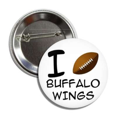 i football buffalo wings button