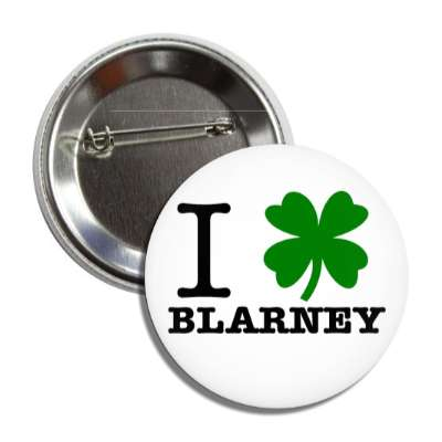 i four leaf clover blarney button