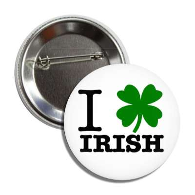 i four leaf clover irish button