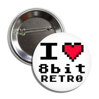 i heart 8bit retro button