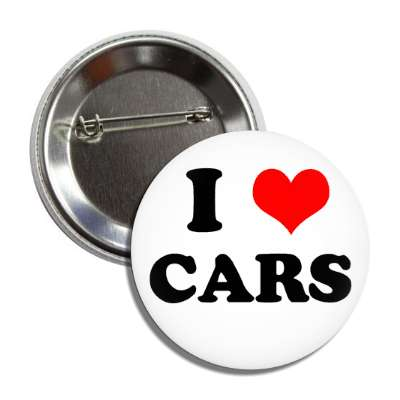 i heart cars button