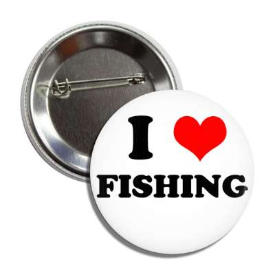 i heart fishing button