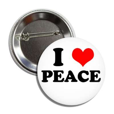 i heart peace button