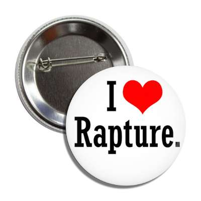 i love rapture black white heart button