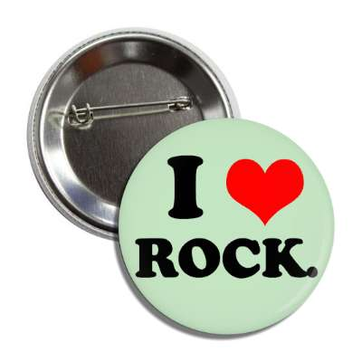 i love rock button
